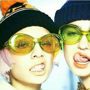 Accessories - Glitter 90's Sunglasses  Cobain y2k accessories